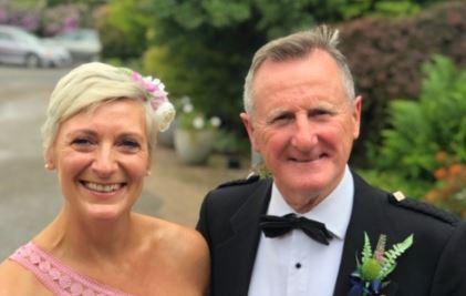Frankie Watt and wife Lorraine
