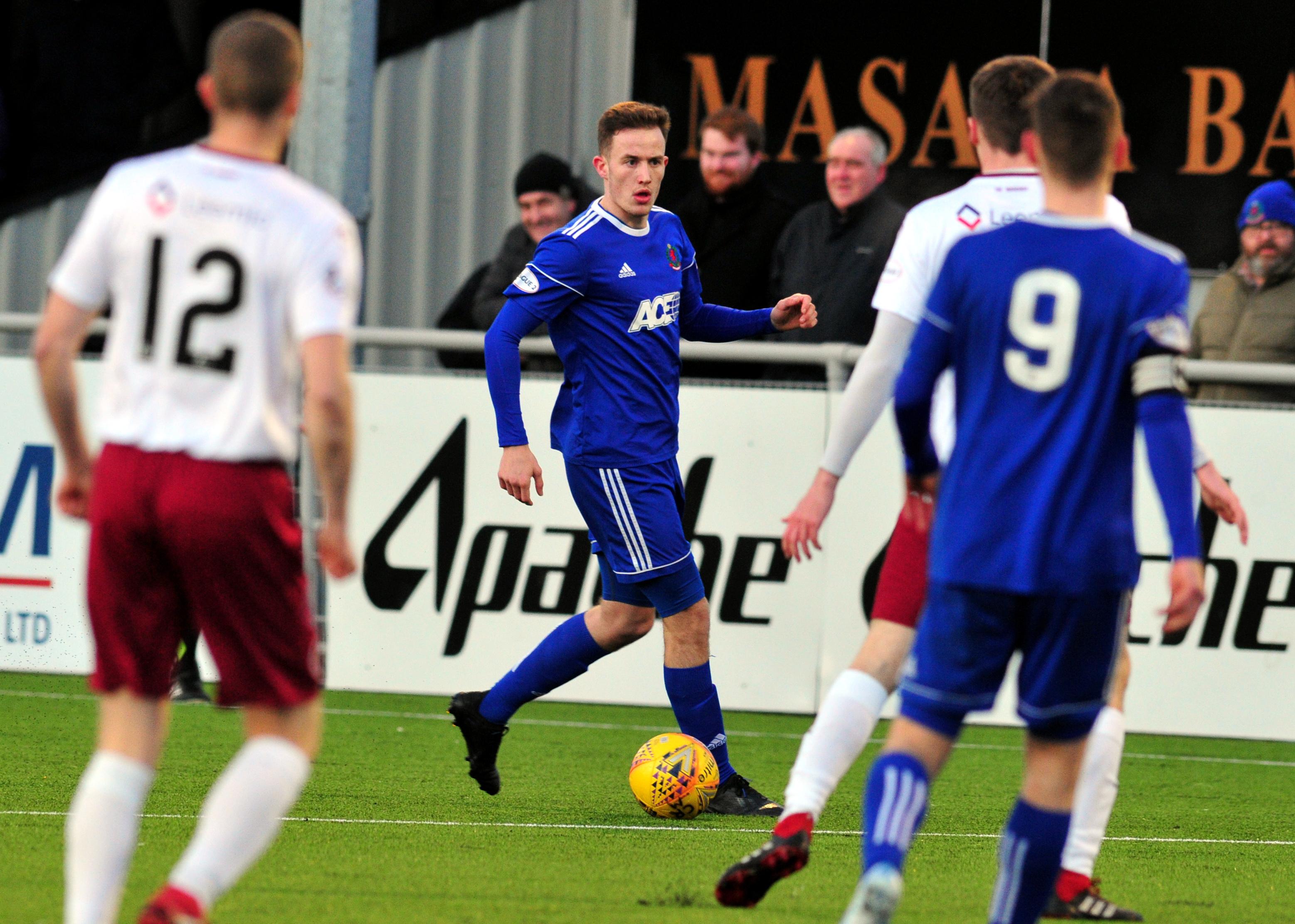 Cove Rangers defender Tom Leighton