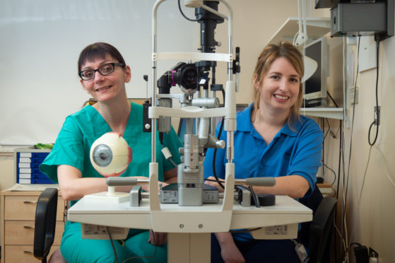 The new eye clinic that has opened up at Dr Gray's Hospital. Picture by Jason Hedges.