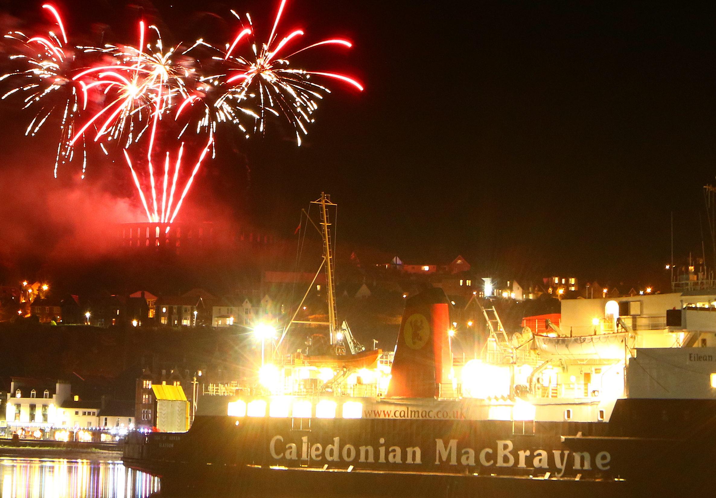 Fireworks light up Oban Bay