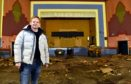 Jon S Baird at the  cinema in Peterhead which is being renovated. Picture by COLIN RENNIE