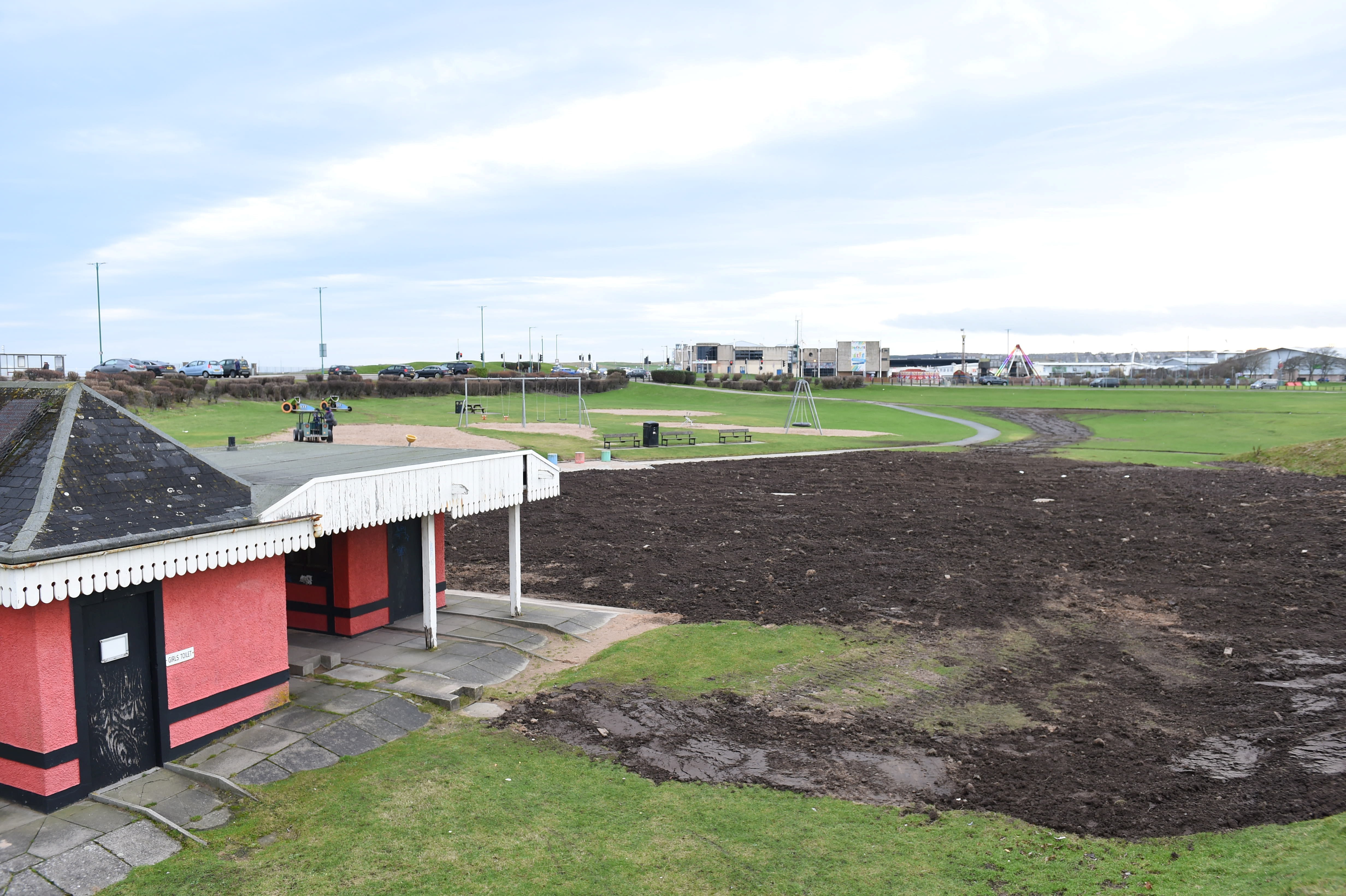 The Aberdeen beach play park. Picture by Paul Glendell