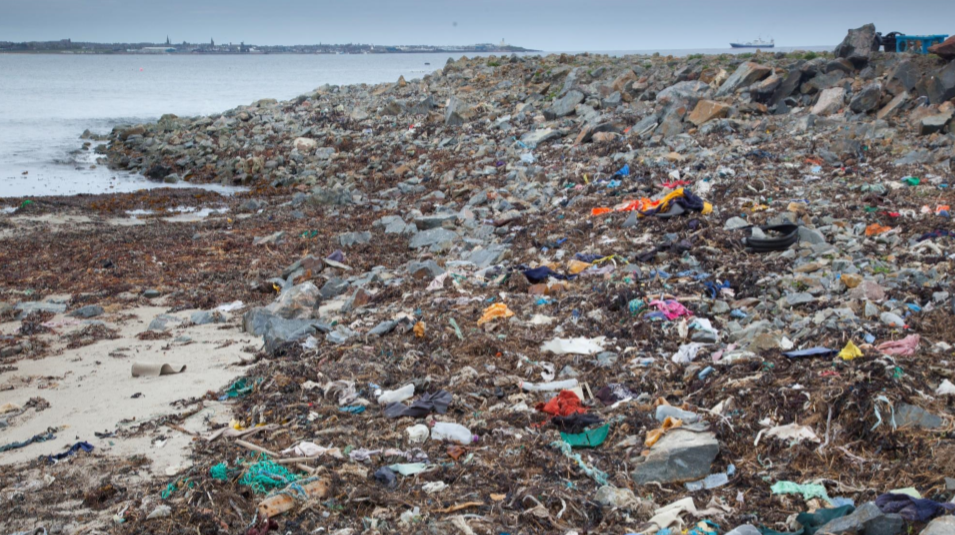 Plastic waste has been a problem on beaches around the coast of the north and north-east.