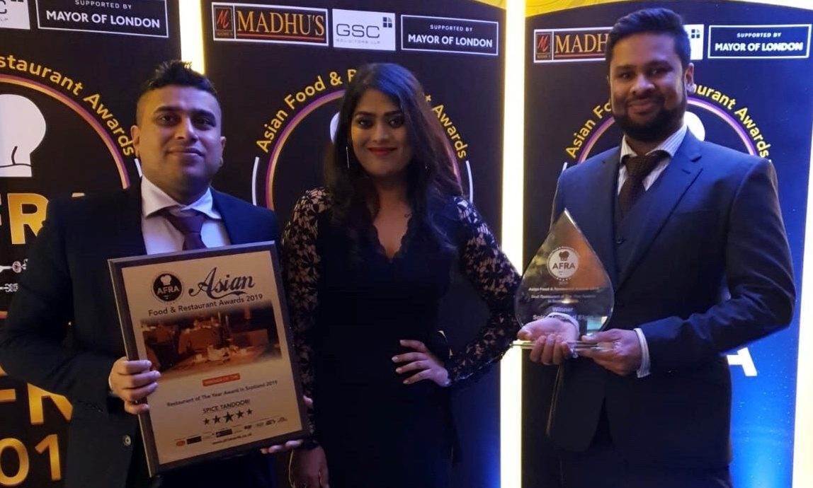 The Spice Tandoor team at the awards