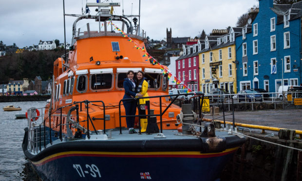 Volunteer crew member, Rose Skelton and her wife Nomi Stone had their marriage blessed on Tobermory's Severn class lifeboat on Saturday in what is believed to be the first blessing of a same sex couple to take place on an RNLI lifeboat.