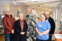 Pictured are Stuart Hunter, Isabelle Sutherland, and Angus Simpson from Unite and Renal Nurse Diane Drysder
