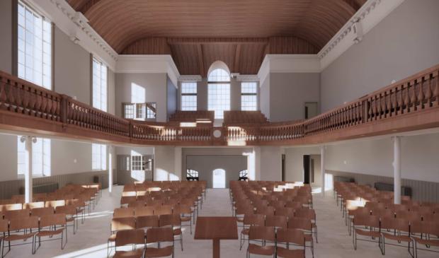 An artist's impression of Trinity Church after its refurbishment