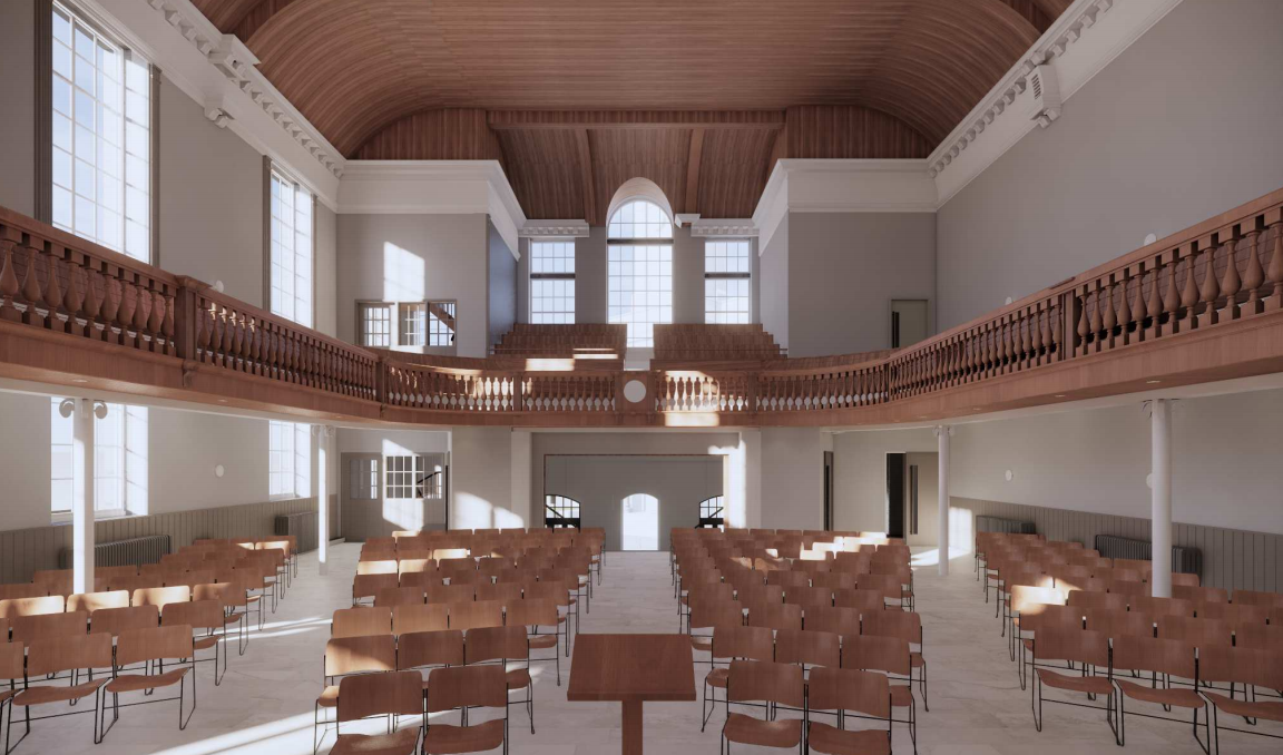 An artist's impression of Trinity Church after its refurbishment