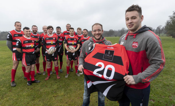 Community Bursary donation to Aberdeen Taexali Rugby Club from CALA Homes