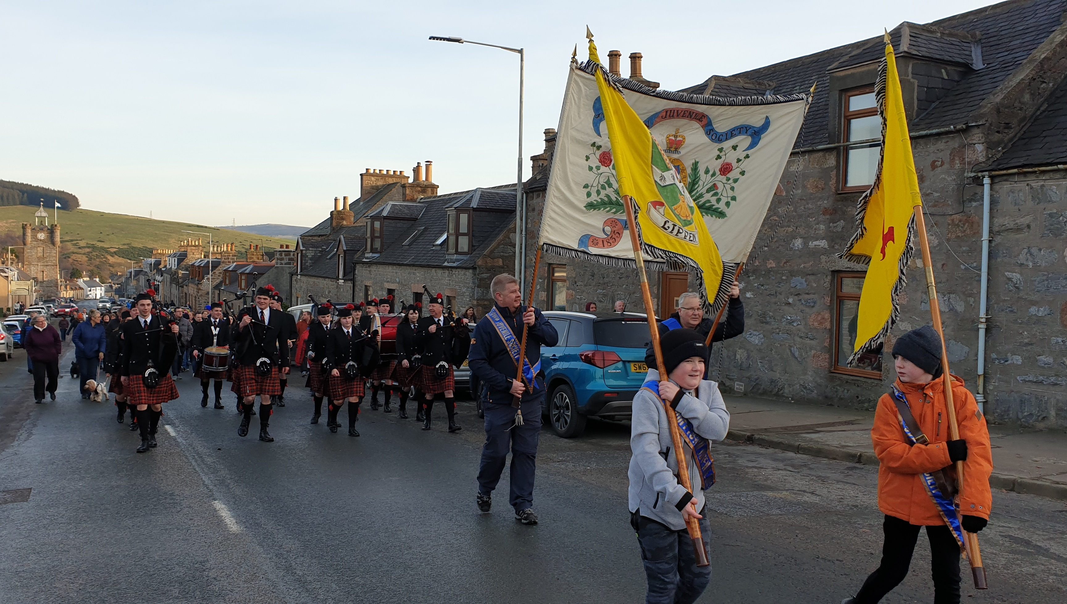 About 200 people joined the procession through Dufftown.