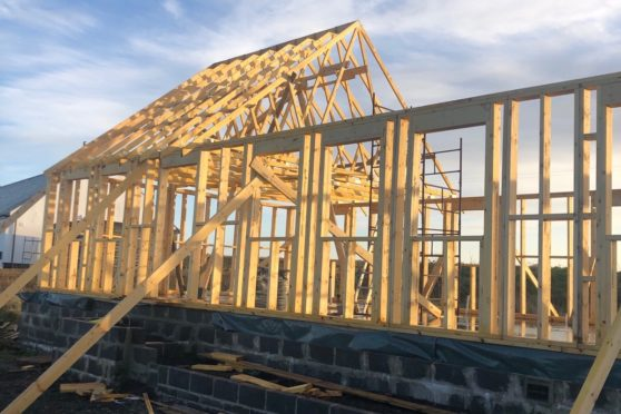 Timber work on the house before the storm hit. Picture: Gofundme