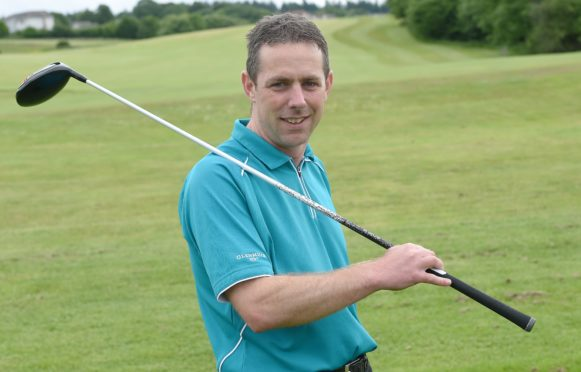 Loch Ness Golf Club Captain Jamie Gordon. Picture by Sandy McCook