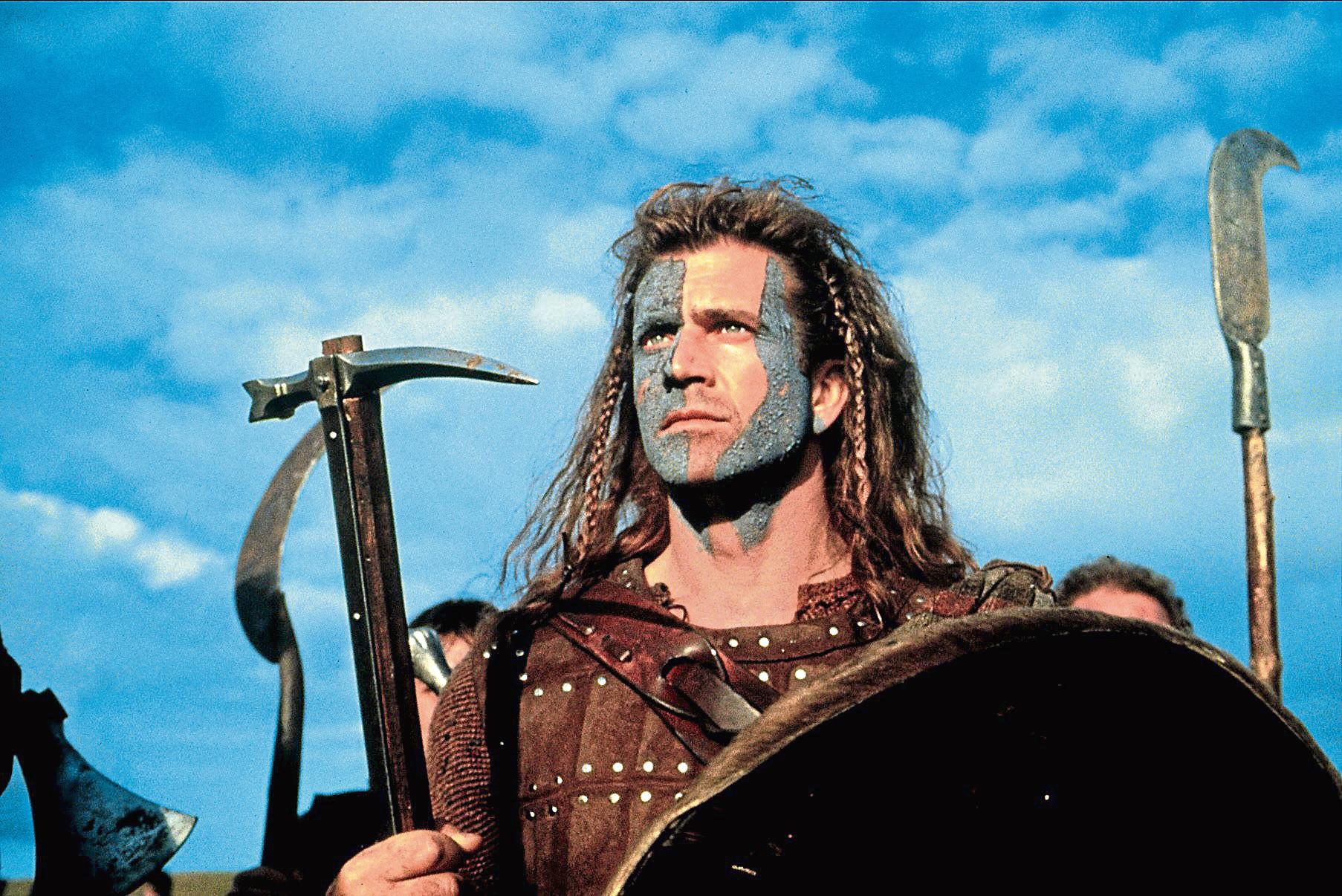 Mel Gibson starred in the award-winning Braveheart.