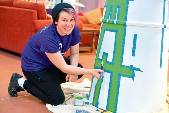 Aberdeen artist Katie Guthrie. Picture by Chris Sumner