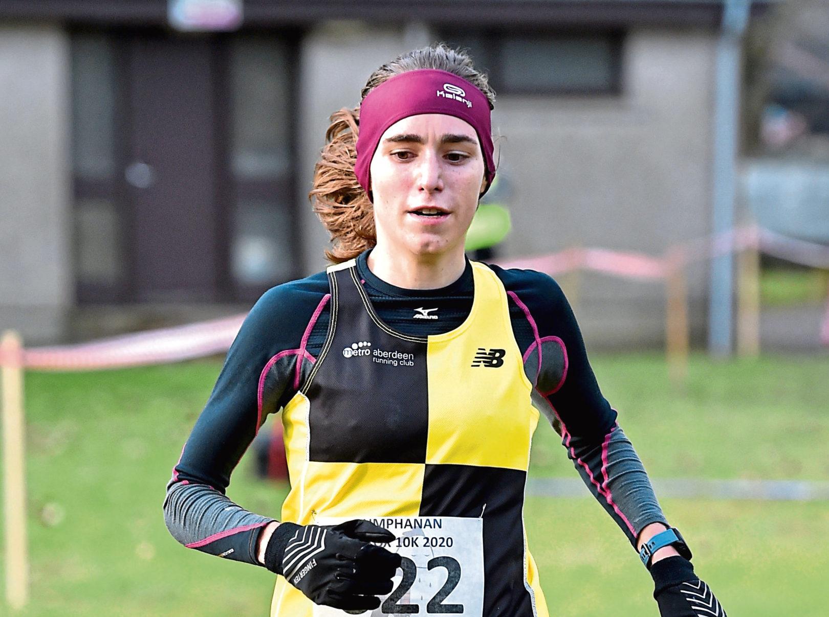 Lumphanan Detox 10k - Women winner Ginie Barrand. Picture by COLIN RENNIE