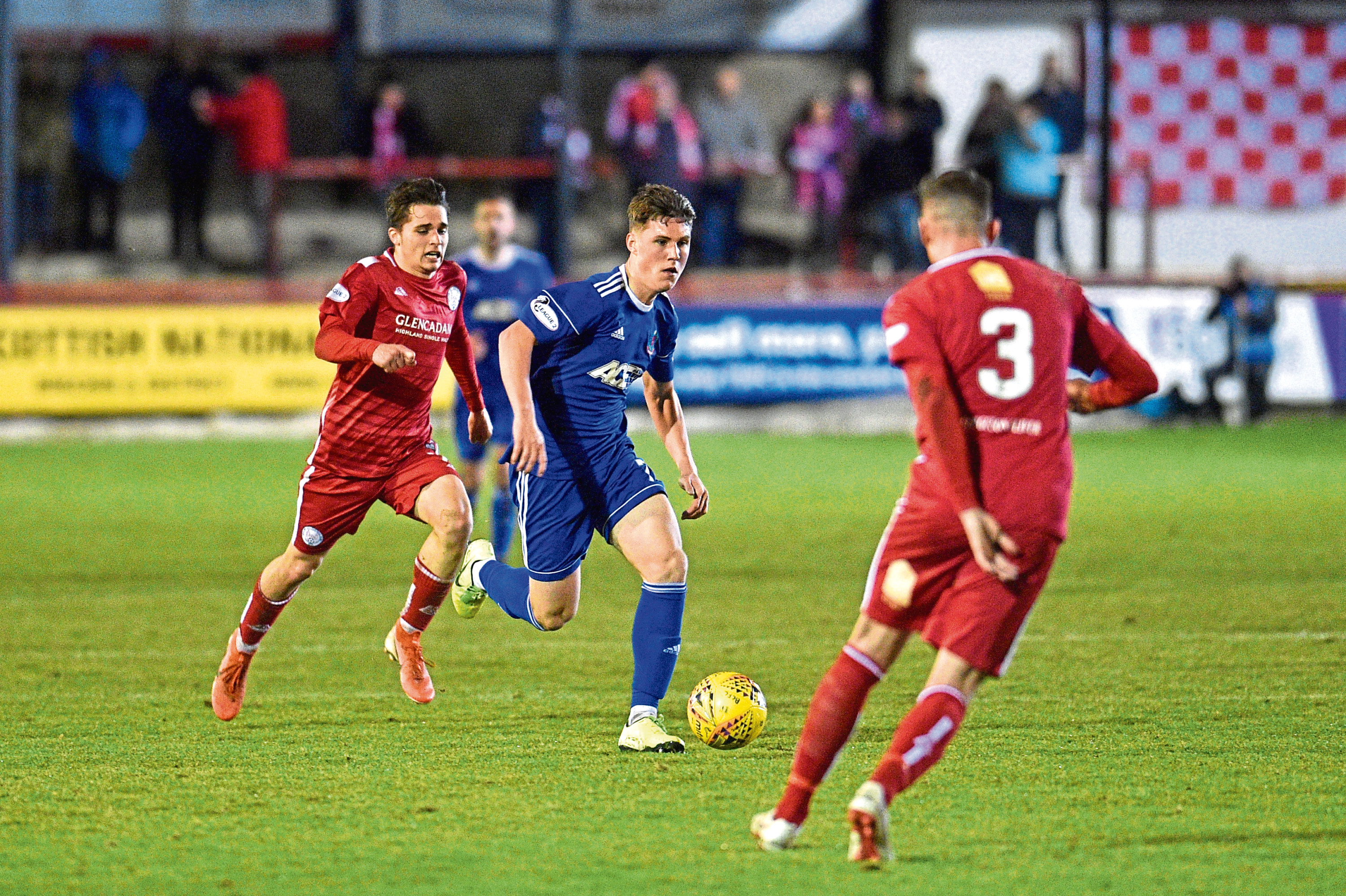 Josh Mulligan in action for Cove
