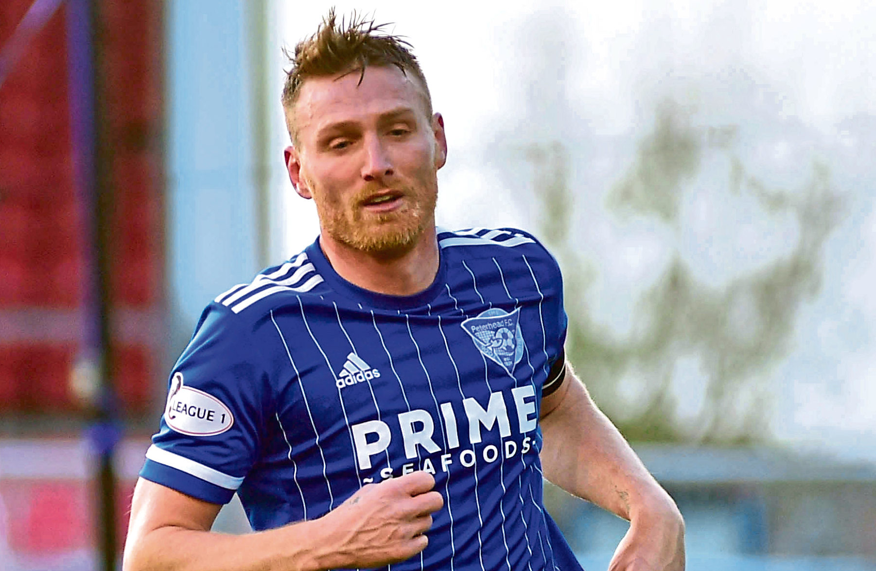 Rory McAllister during his time with Peterhead