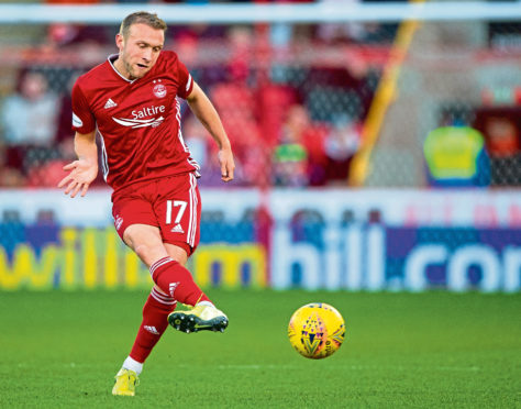 Dylan McGeouch in action for Aberdeen