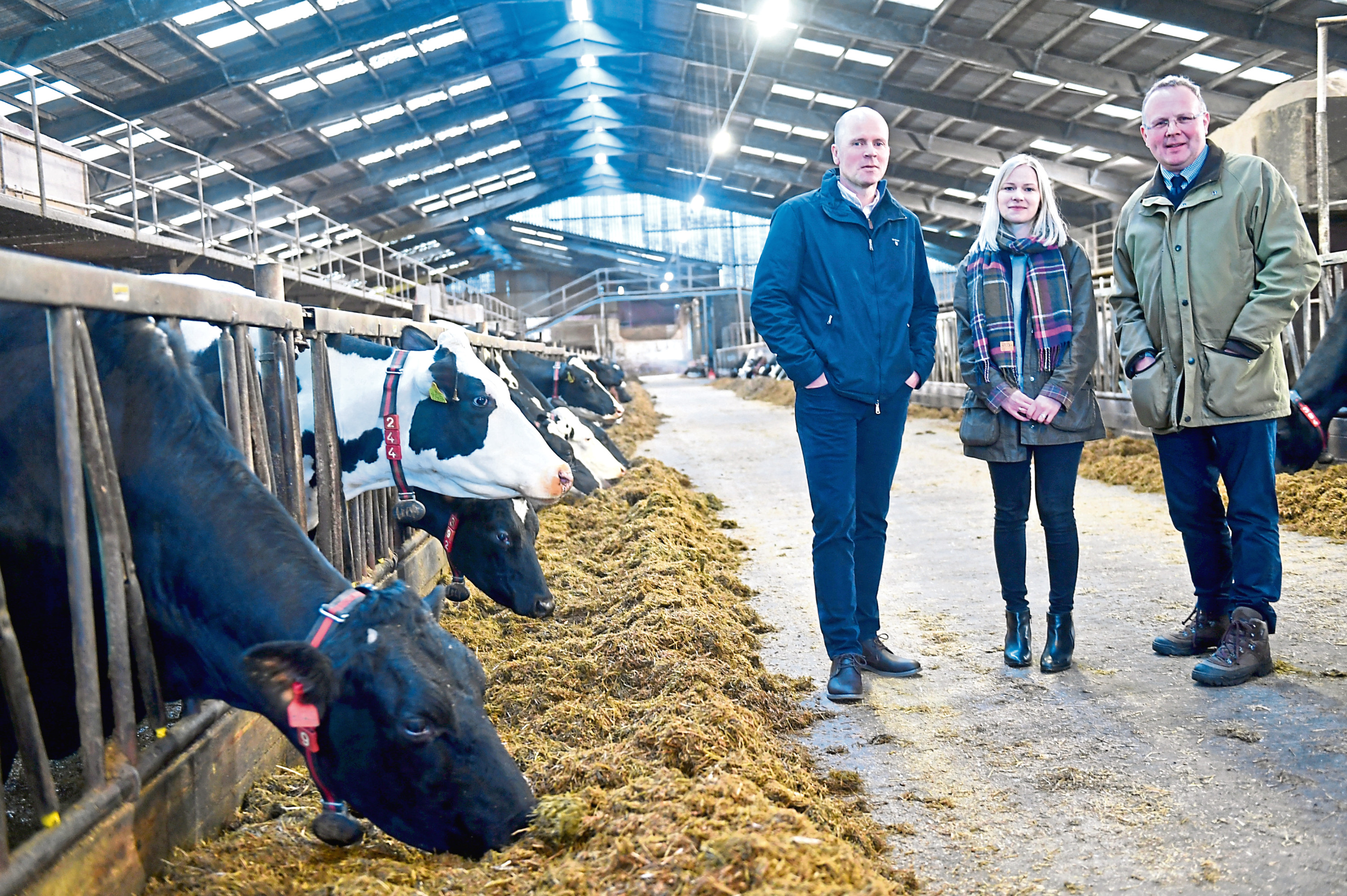 Pictured from left are, Mac Mackie from Mackie's, Louise Mutch the event chairman, and Keith Walker the president of the Royal Northern Agricultural Society.