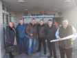 Delighted residents after the decision was made to reject the plans
