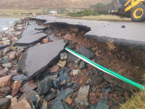 Some of the storm damage at Applecross.