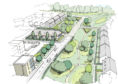 Artist impression showing plans for new homes