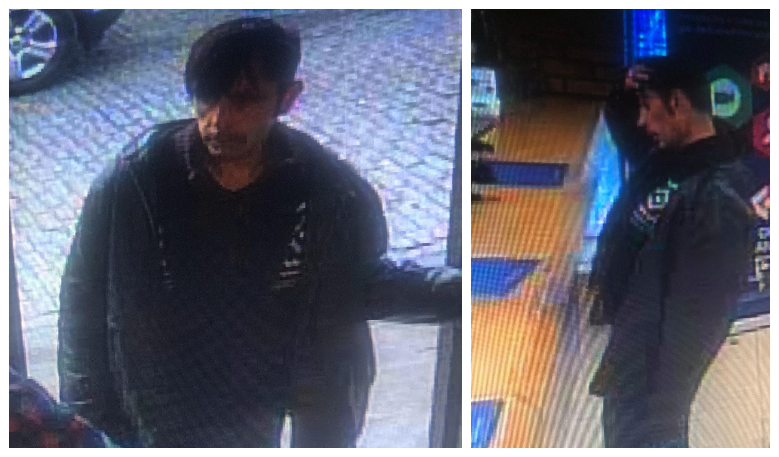 CCTV images of Paul Connolly before he disappeared.