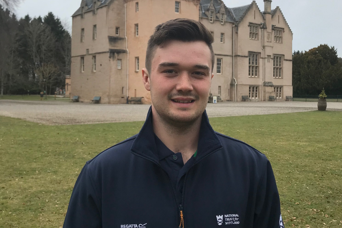 Ed Walling, head gardener at Brodie Castle.