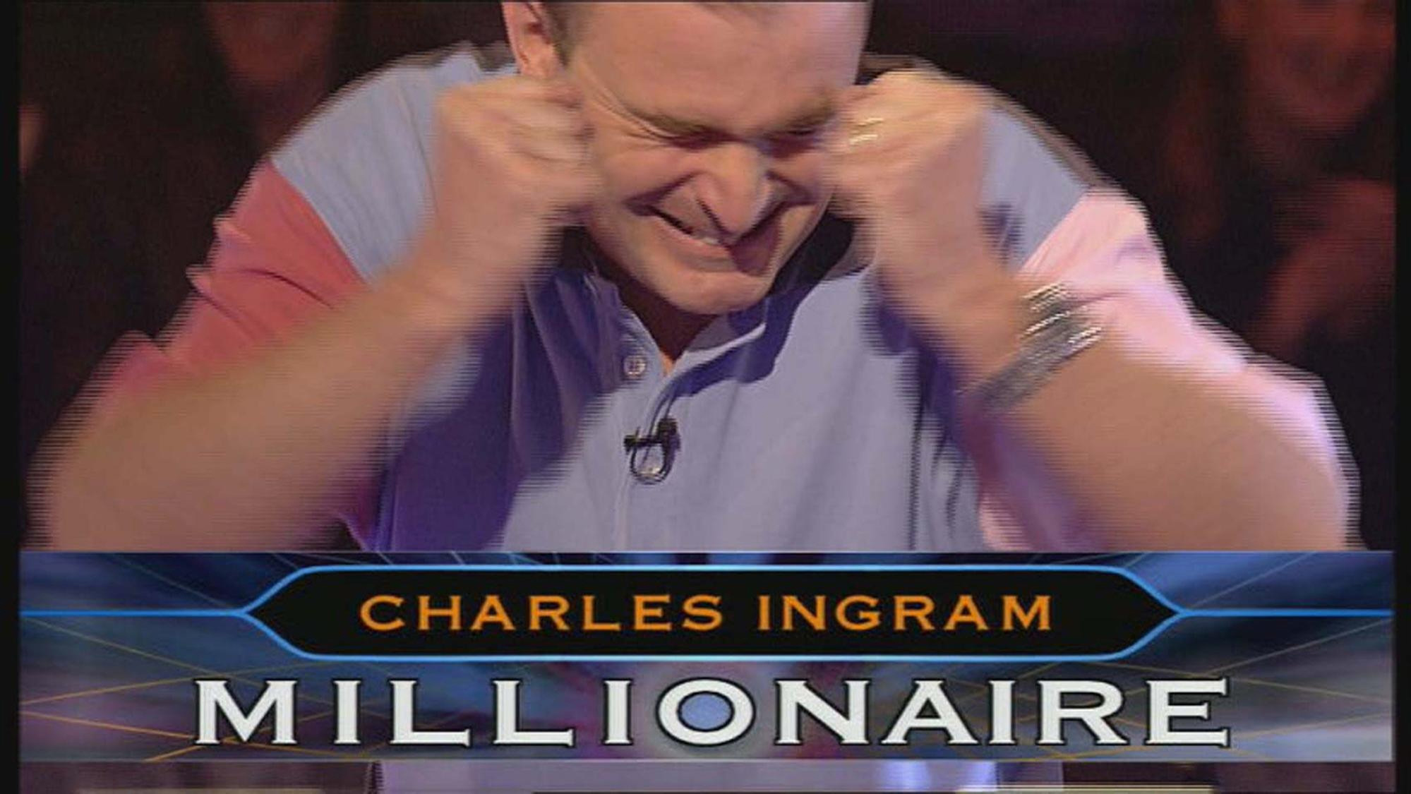 Major Charles Ingram during his controversial Who Wants To Be A Millionaire appearance.