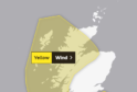 The Met Office has issued a yellow weather warning for parts of the Highlands.