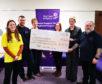 Highland Hospice Corporate Fundraiser Lisa Long, and Highland Council staff Stephen Scott, Rosemary MacRae, Alison Gilbert, Lorna Bailey and Ian MacCallum.