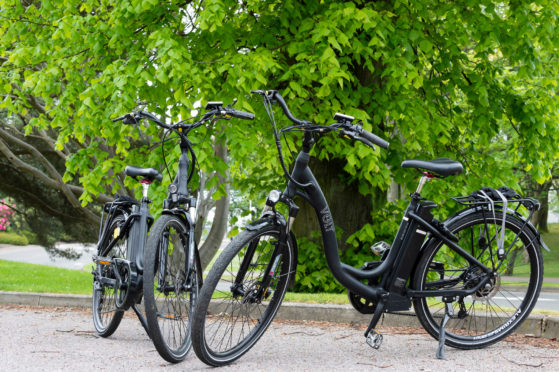 Aberdeenshire Council is promoting the use of e-bikes.