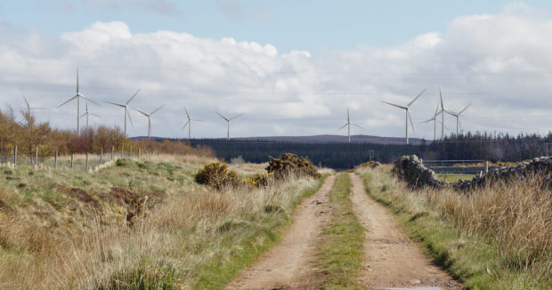 Artist's impression of the Limekiln Wind Farm