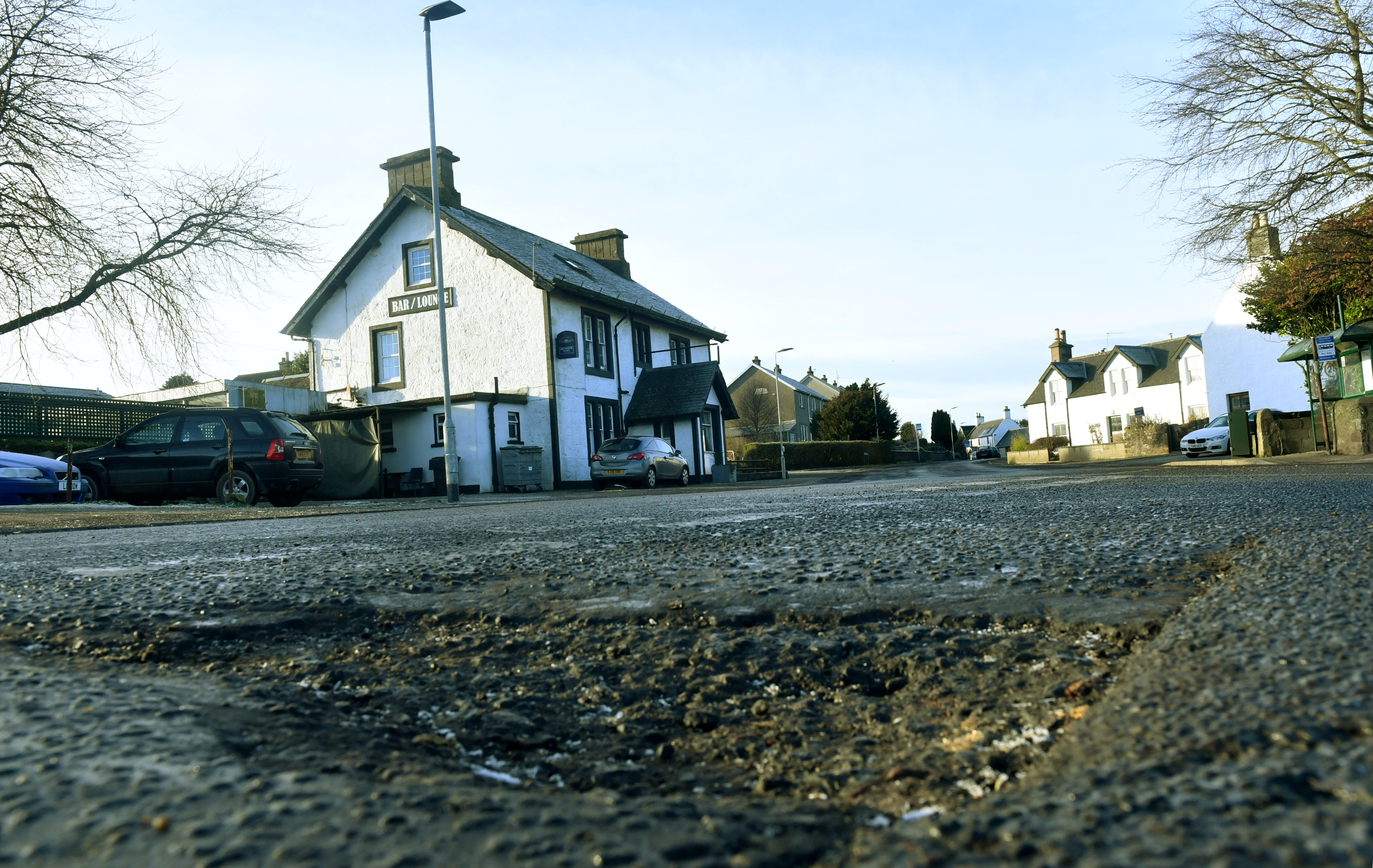 One of the potholes in Drumlithie