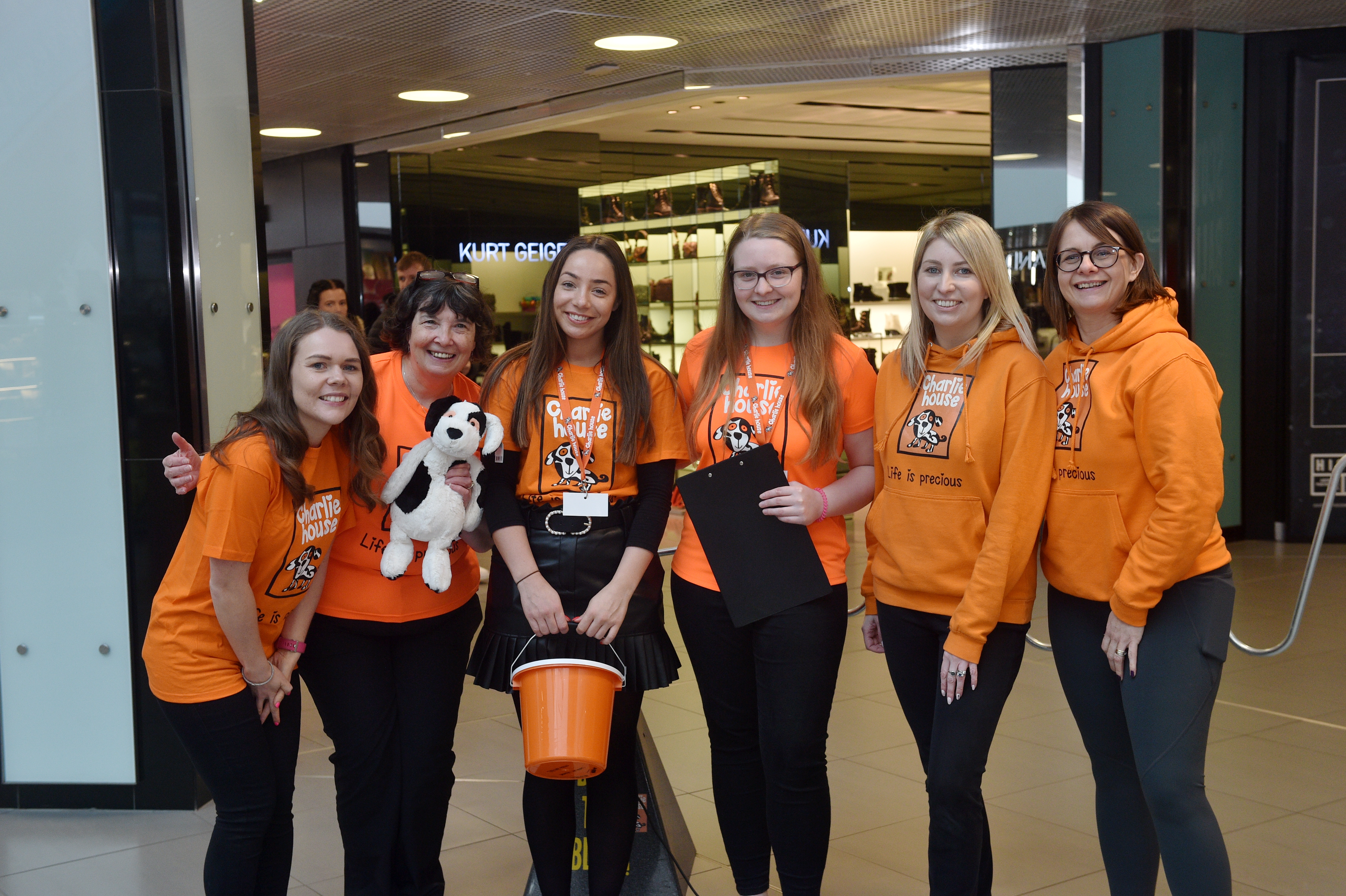 Charlie House Scavenger Hunt at Bon Accord Centre, Aberdeen Pictured are Charlie's House volunteers  Picture by DARRELL BENNS