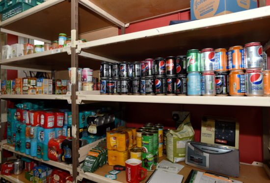 The foodbank at Instant Neighbour in Aberdeen. Picture by Darrell Benns.
