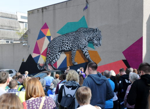 NUART on Harriet Street last year. Walking Tour. Picture by Kath Flannery