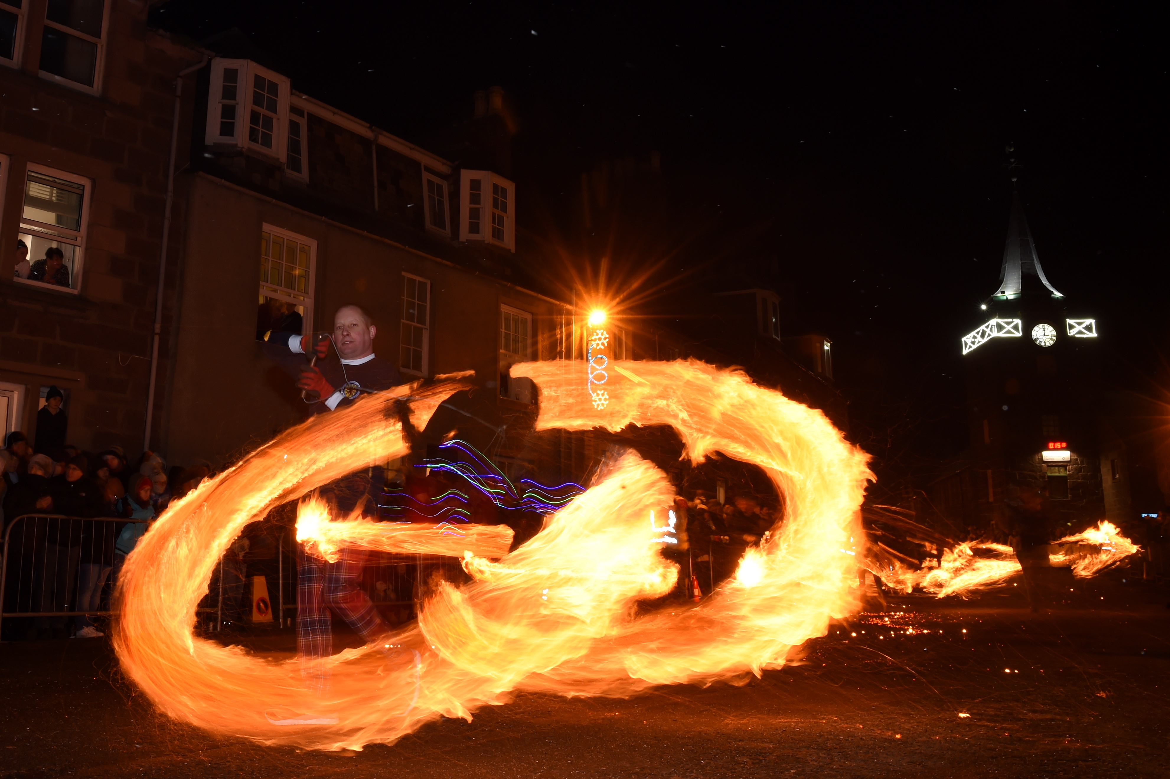 Hogmanay Stonehaven Festival Fireballs 2019.  Picture by KENNY ELRICK
