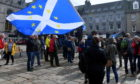 Anti-Brexit protesters at the Castlegate in Aberdeen in 2019. New protests are planned to mark Brexit Day.