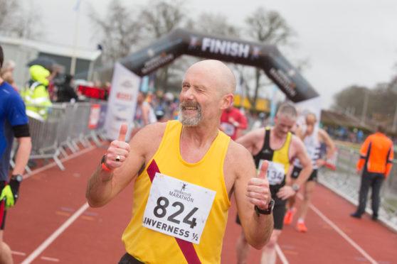 Graham Laing at Inverness Half Marathon in 2017.
