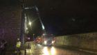 Fire crews on Great Western Road, Aberdeen