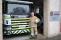 Richard Devey first volunteered his services with the local fire crew when he began working as a teacher at the Moray boarding school in 1992.