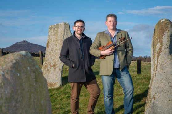 VisitAberdeenshire competition winners Benjamin McMillan and Paul Anderson. Picture by Abermedia / Michal Wachucik