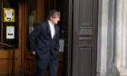 Leon King leaving Aberdeen Sheriff Court.