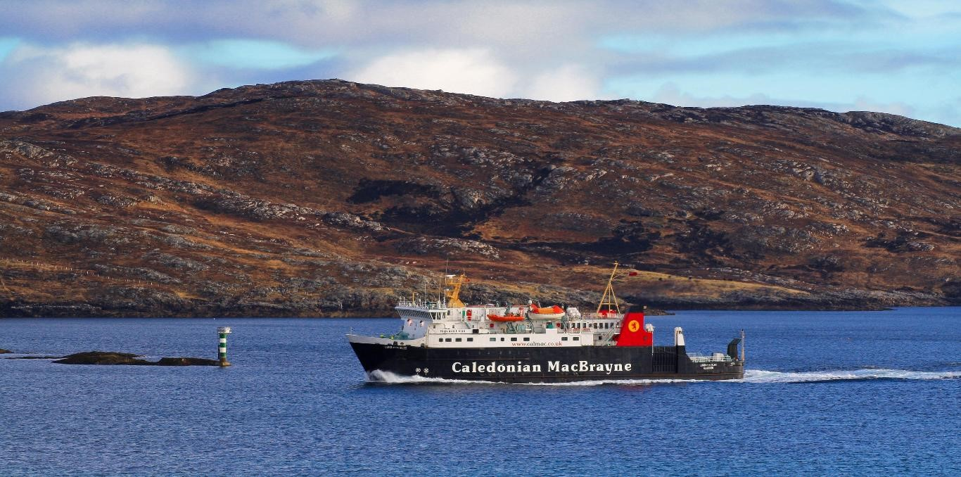 The MV Lord of the Isles which operates the Mallaig to Armadale ferry crossing for CalMac