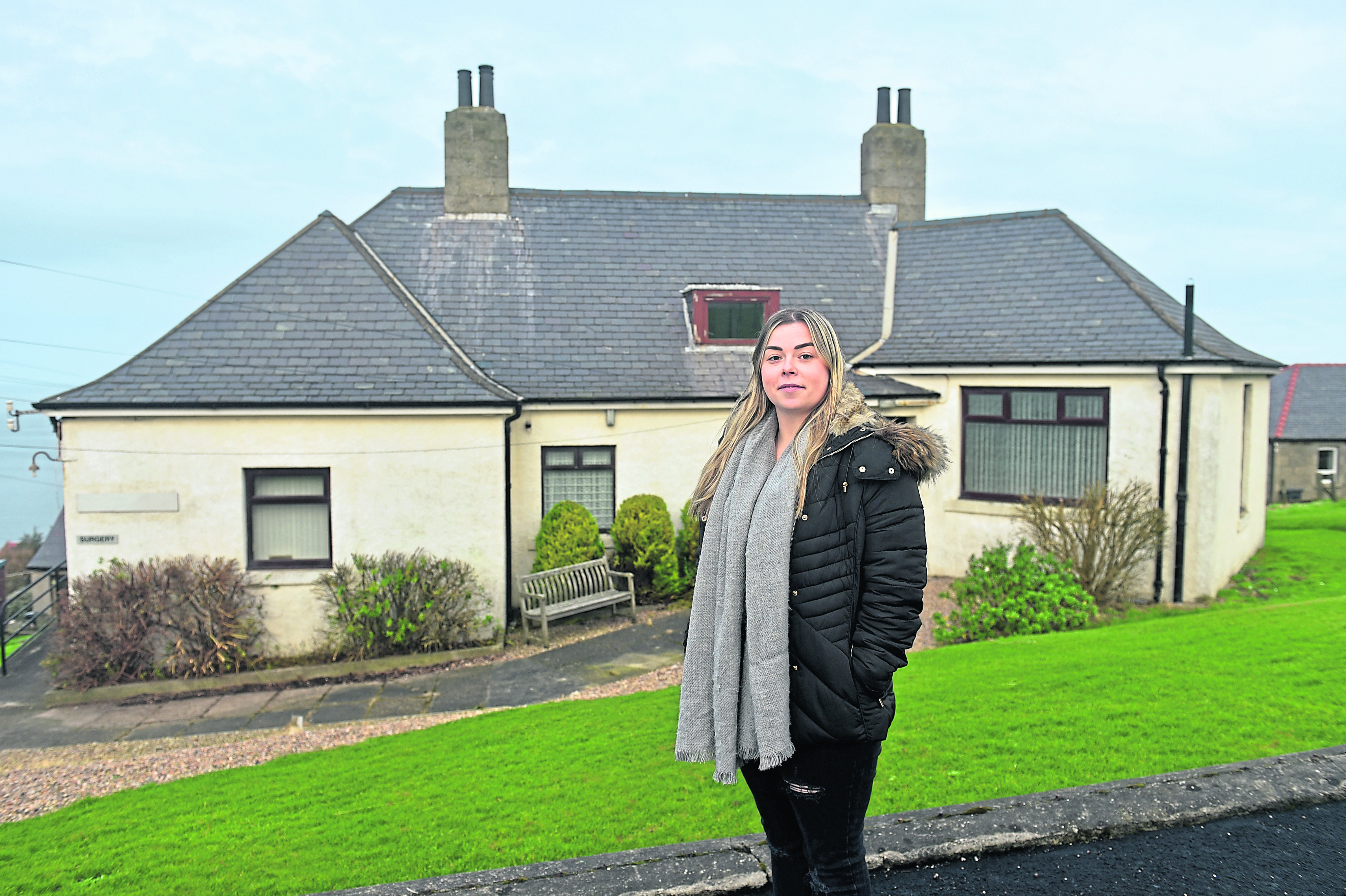 Gemma McKay at the old GP Surgery which they are hoping to convert.  Picture by Darrell Benns