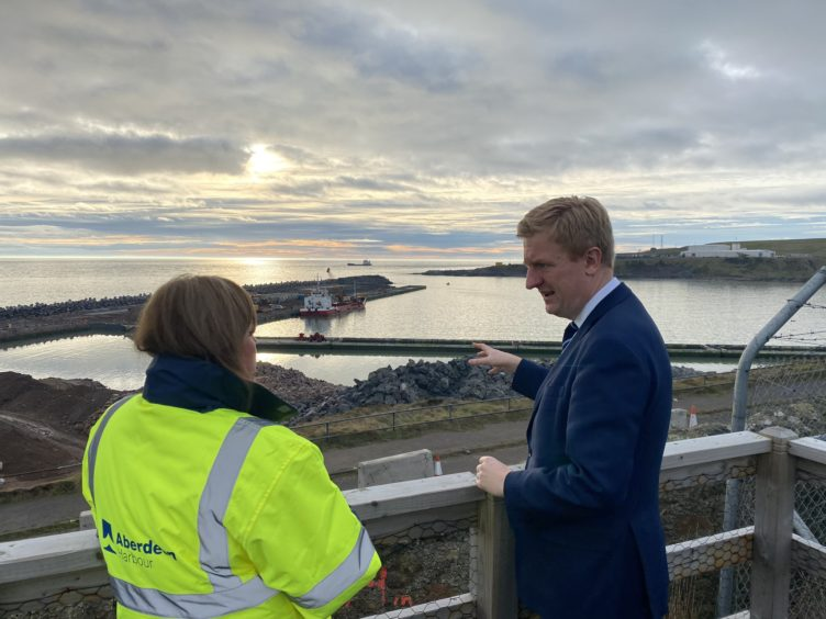 Cabinet Office Minister Oliver Dowden in the north-east
