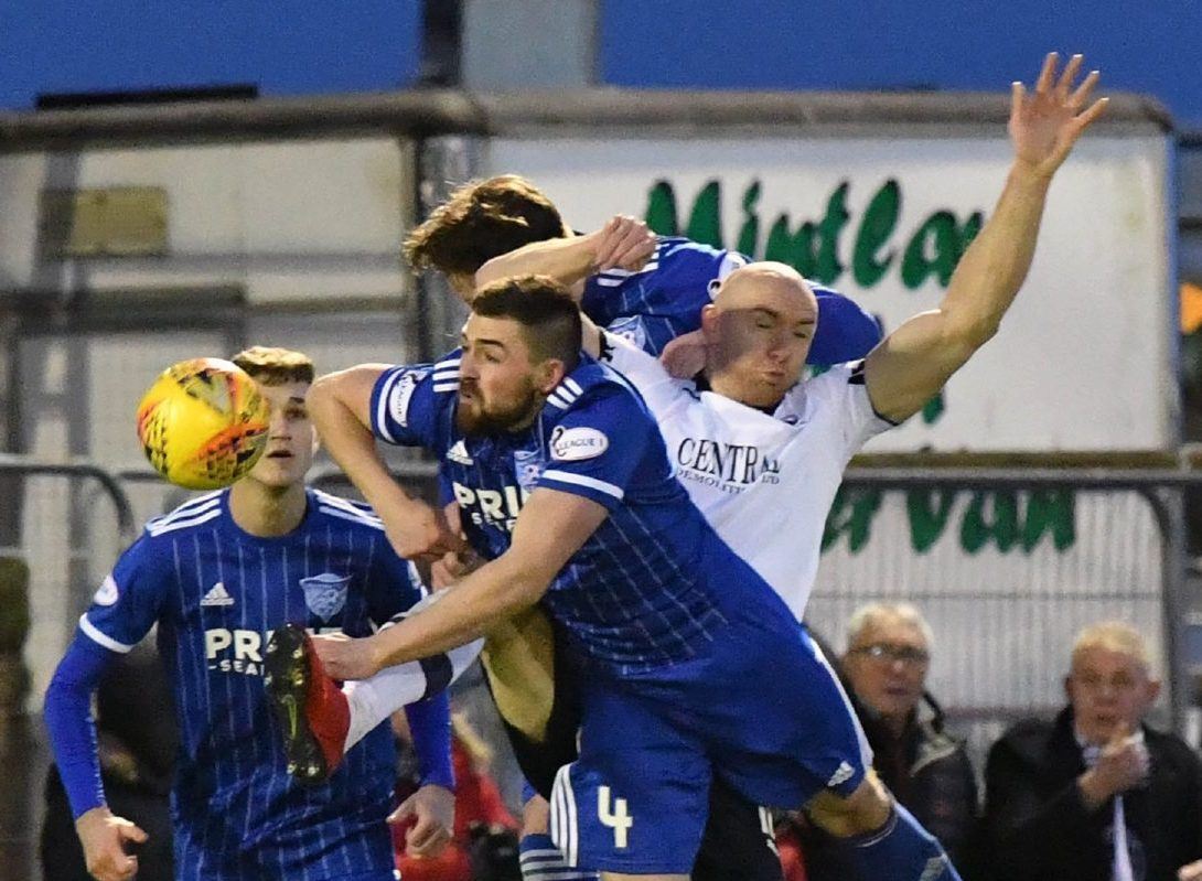 PETERHEAD'S CAMERON EADIE CLEARS FROM CONOR SAMMON