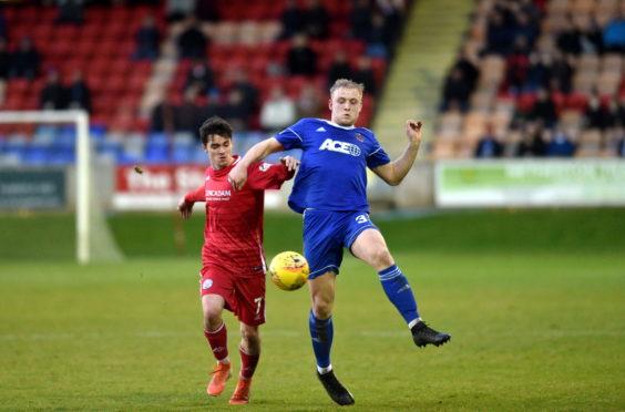 Cove Rangers full-back Harry Milne.
