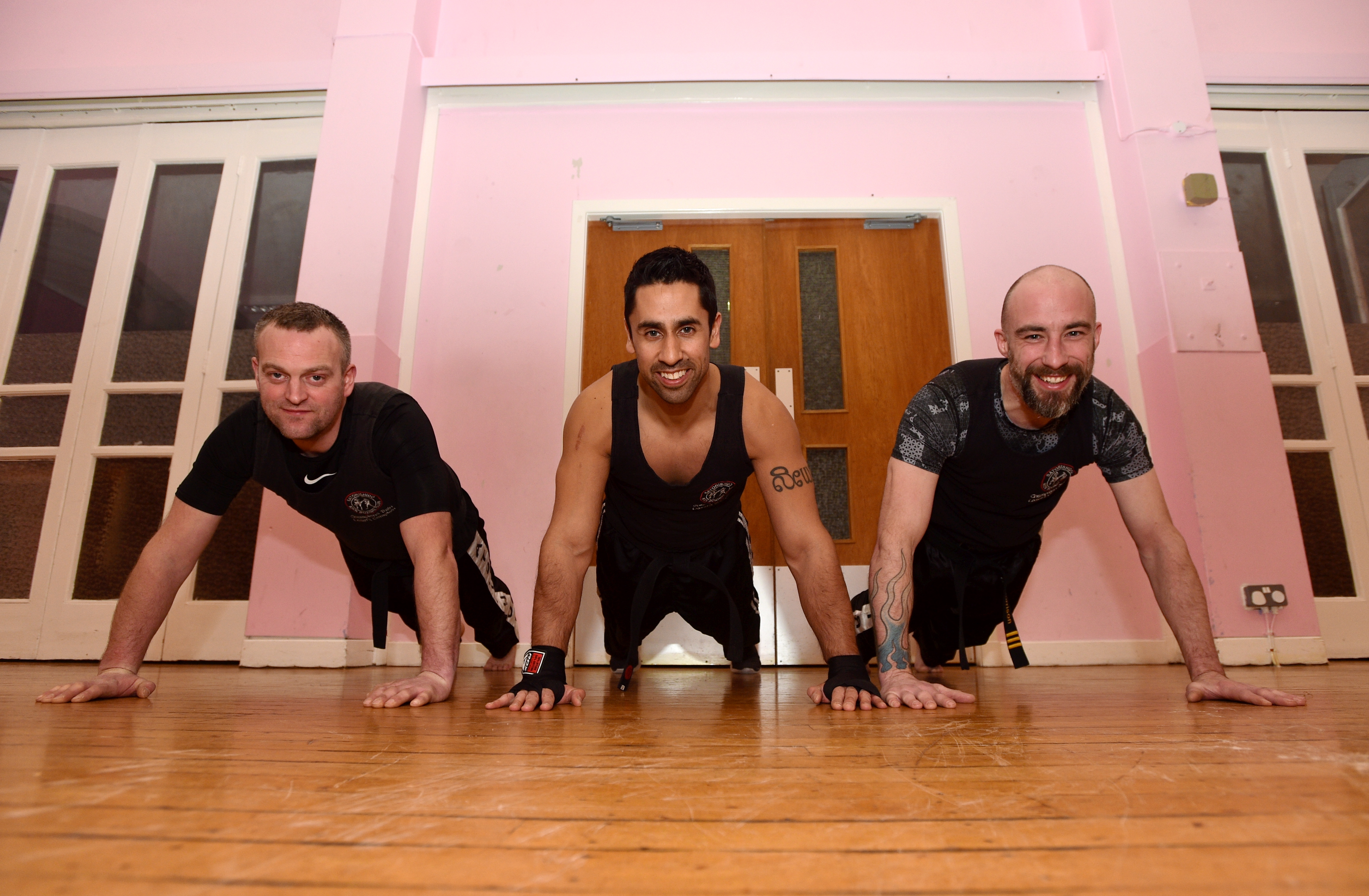 Pictured are from left, David Krasjuk, Leon Bremaneson and Douglas Morrison at Mastrick Community Centre, Aberdeen. Picture by Darrell Benns